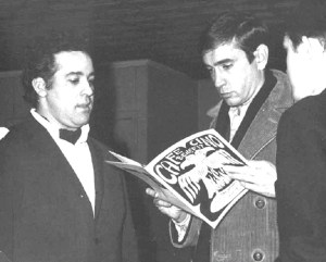 Joe Cino and Edward Albee, 1965.