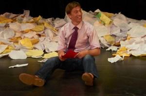 Josh Kachnycz as Berowne in LOVE'S LABOUR'S LOST. Photo credit: John Bansemer.