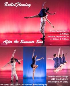 Ballet Fleming, AFTER THE SUMMER SUN poster