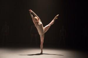 Chloe Felesina dancing for BalletX. Photo by Alexander Iziliaev.