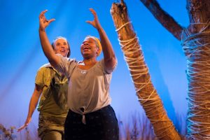 Kristyn Chouiniere and Alice M. Gatling in THE SYRINGA TREE at Theatre Horizon. Photo credit: Matthew J Photography