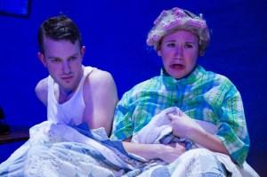 Craig O'Brien as Ben and Jenna Kuerzi as Alma in EgoPo's STAIRS TO THE ROOF (Photo credit: David Sarrafian)