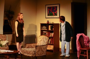 Kirsten Quinn as Lisa and Renee Richman-Weisband as Ruth face off in Isis Productions' COLLECTED STORIES (Photo credit: Kristine DiGrigoli)
