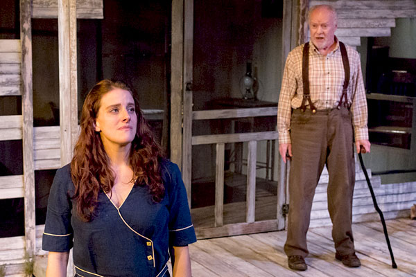 Angela Smith and Michael P. Toner in A MOON FOR THE MISBEGOTTEN. Photo by Mark Garvin.