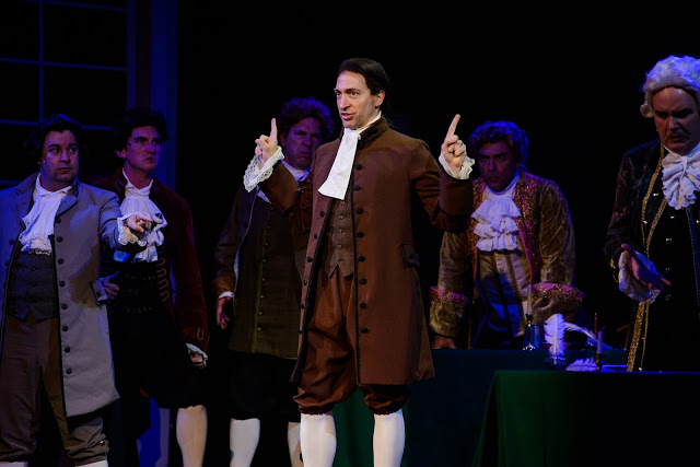 Ben Dibble stars as John Adams, in 1776 The Musical. Photo by Maura McConnell