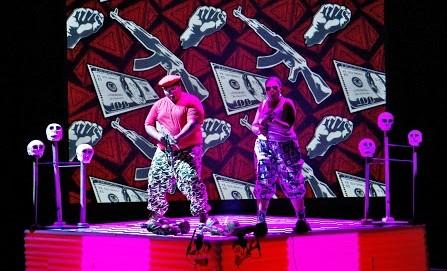 10. Opera Phila & Third World Bunfight,MACBETH, Owen Metsileng as Macbeth and Nobulumko Mngxekeza as Lady Macbeth - photo by Nicky Newman