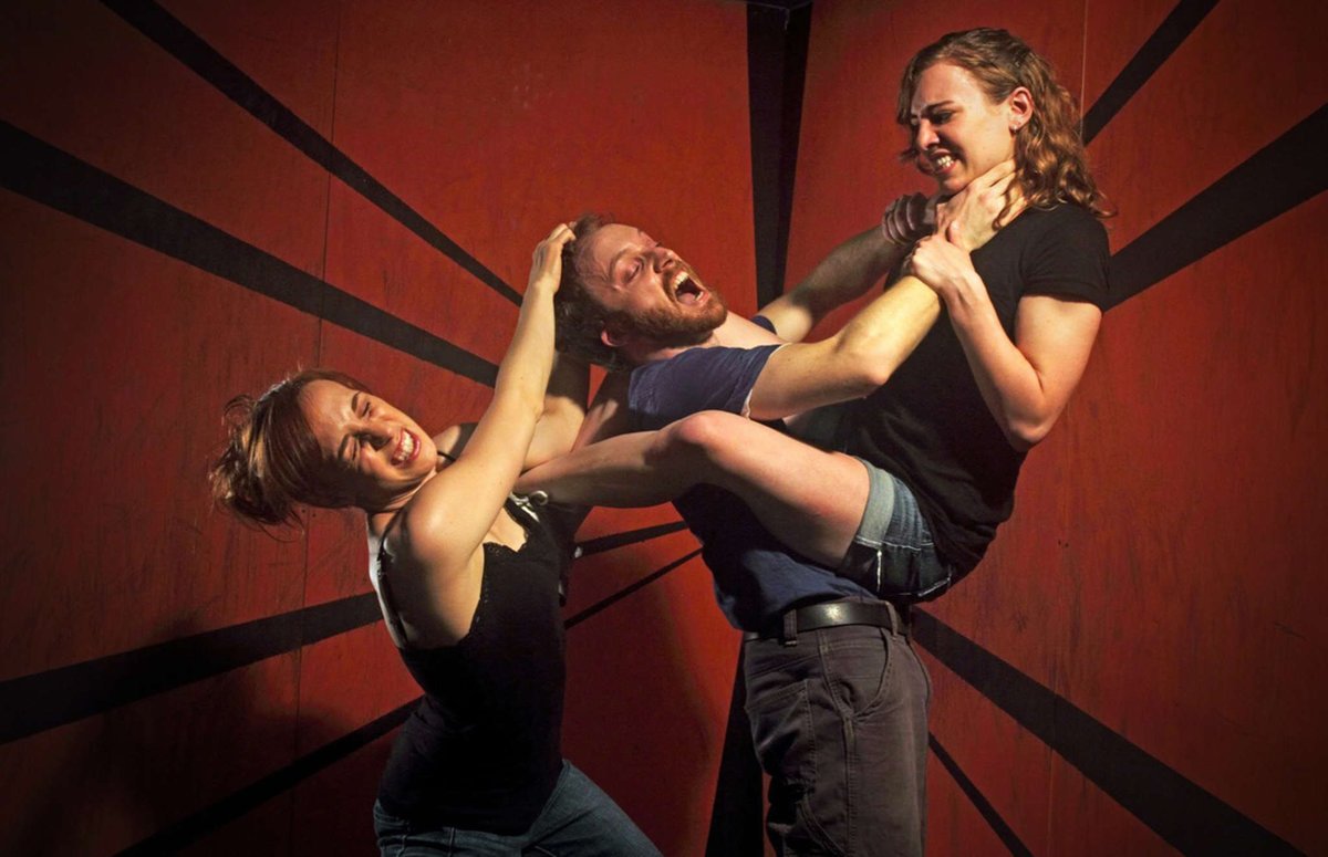(l-r) Colleen Hughes, Kyle Yackoski, and Leah Holleran. Photo by Lewis Harder.