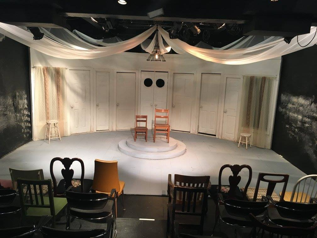 THE CHAIRS by Eugène Ionesco. Set design by Lisi Stoessel. Photo by Johanna Austin.