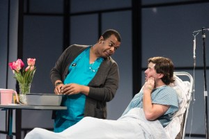 Rob Tucker and Steve Pacek in Theatre Horizon's A NEW BRAIN (Photo credit: Matthew J Photography)