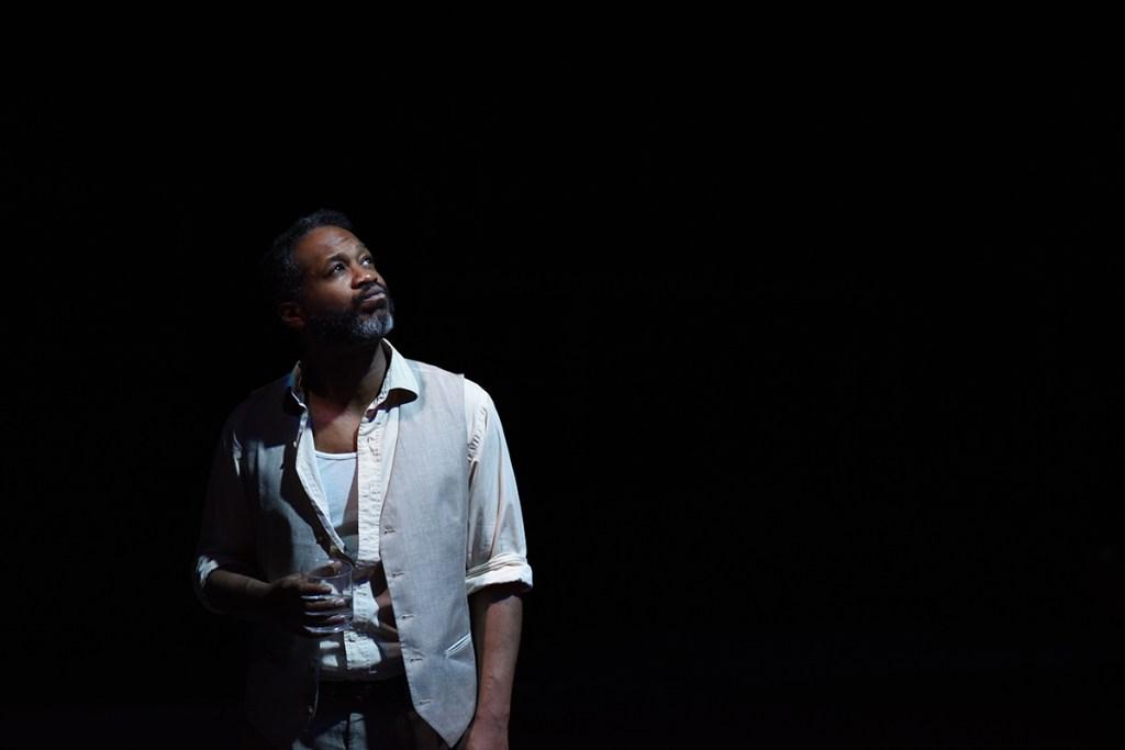 Vanya (Steven Wright) contemplates his life in UNCLE VANYA. Photo by Shawn May.