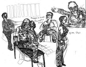 Sketches by Chuck Schultz.