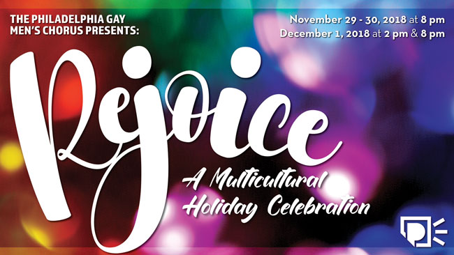 PGMC poster of Rejoice, a multicutural holiday celebration