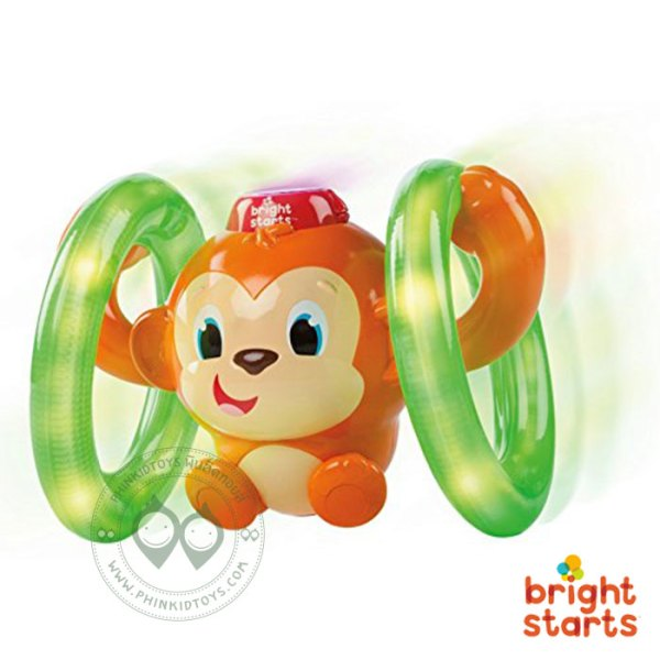 BS-52181 Bright Starts Roll & Glow Monkey
