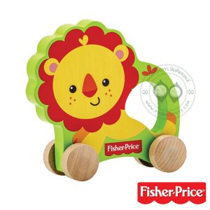 รถสิงโตไม้ Fisher Price - My First Rolling Lion