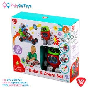 Playgo Build and Zoom Set ชุดวิศกรน้อยประกอบหุ่นยนต์