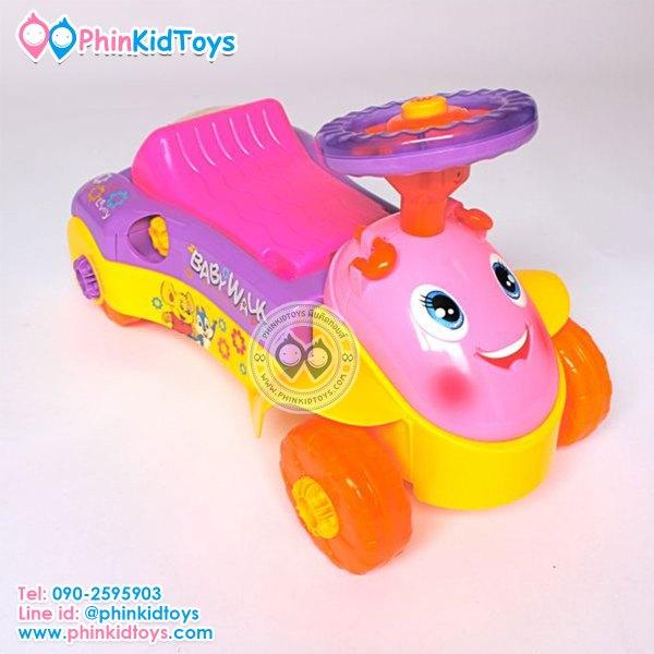 3in1 Baby walker 3in1 รถขาไถและรถหัดเดิน สีชมพู