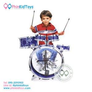 กลองชุด 5 ชิ้น สำหรับเด็ก Big Band สีน้ำเงิน