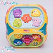 กล่องกิจกรรม 7 ด้าน Educational Toy House Multi function game learning เป่าเปา สีเหลือง-07