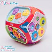 กล่องกิจกรรม 7 ด้าน Educational Toy House Multi function game learning เป่าเปา สีแดง-03