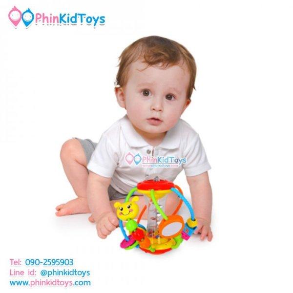 Huile Toys Healthy Ball บอลเขย่าเสริมพัฒนาการ ลูกบอลฝึกทักษะ