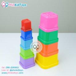 ถ้วยซ้อนเสริมพัฒนาการ Stacking Cubes On-U-mind