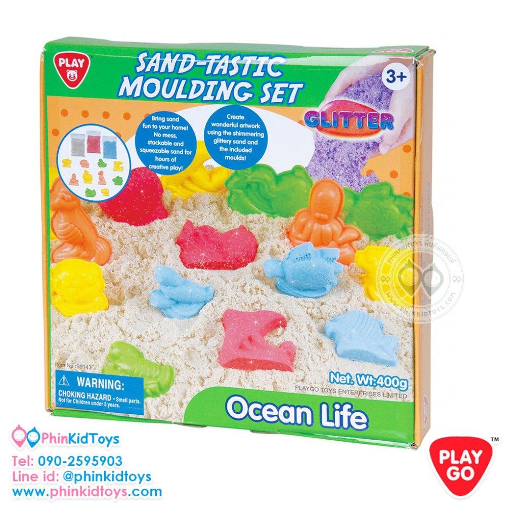 Playgo Sand-Tastic Moulding Set-Art Sand Ocean Life เมจิคแซนด์สัตว์น้ำ-03