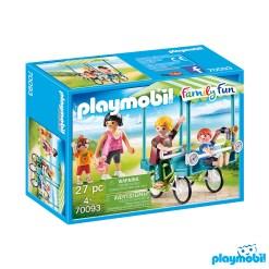 Playmobil 70093 Camping Family Bicycle Figure เพลย์โมบิล แคมป์ ปั่นจักรยานครอบครัว