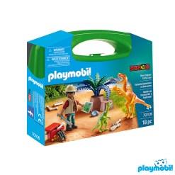 Playmobil 70108 Carry Case Dino explorer, Large Figure เพลย์โมบิล เซ็ตกระเป๋าใหญ่ สำรวจโลกล้านปี