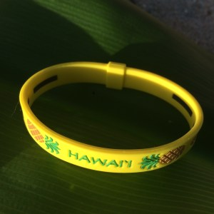 Pineapple Phiten Hawaii Titanium Bracelet