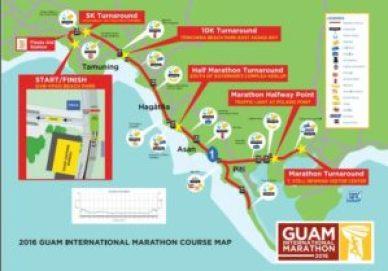 Guam Marathon Course Map