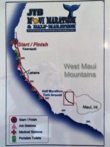 Maui Half Marathon Course