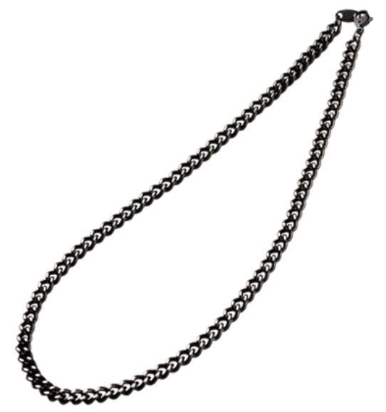 Carbonized Titanium Necklace body is a sleek black Phiten Necklace
