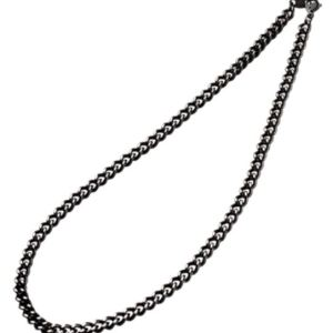 Carbonized Titanium Necklace body is a sleek black Phiten Necklace