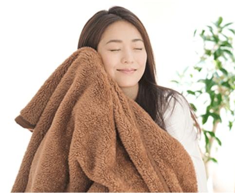 Phiten fluffy blanket has amazing soft texture