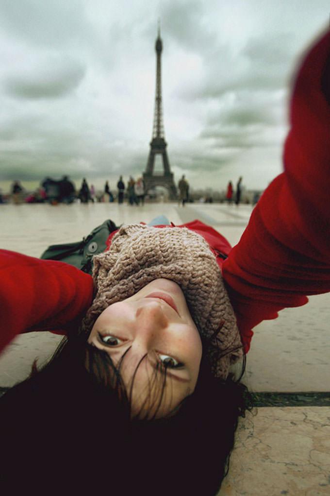 Selfportrait with Eiffel by Nastia irrr Sokolova