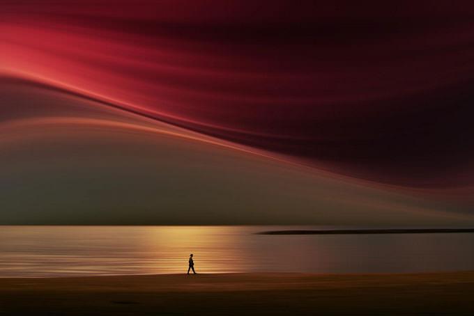 Red Walk by Josh Adamski