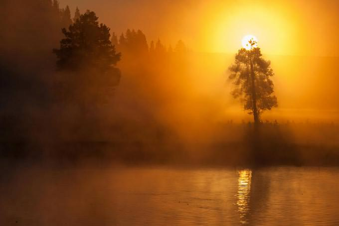 Sunrise over the Yellowstone River by Marc Escobosa