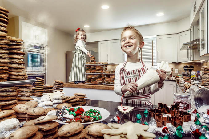 Wyatt and Madison Holiday Card 2013 by Mike Van Tassell