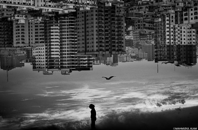 the boy, the bird, and the city by Mahmudul Alam Zisan