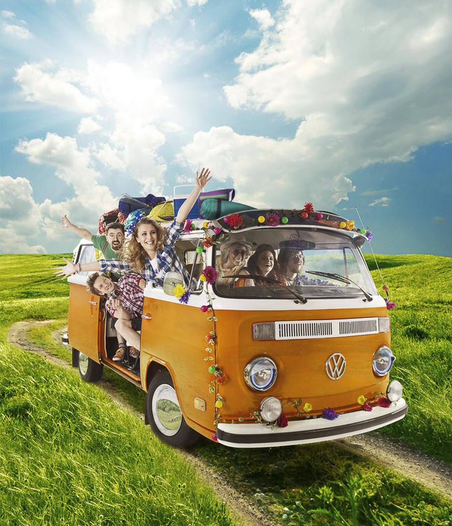 Hippie Bus for Enter by Tatyana Chihacheva