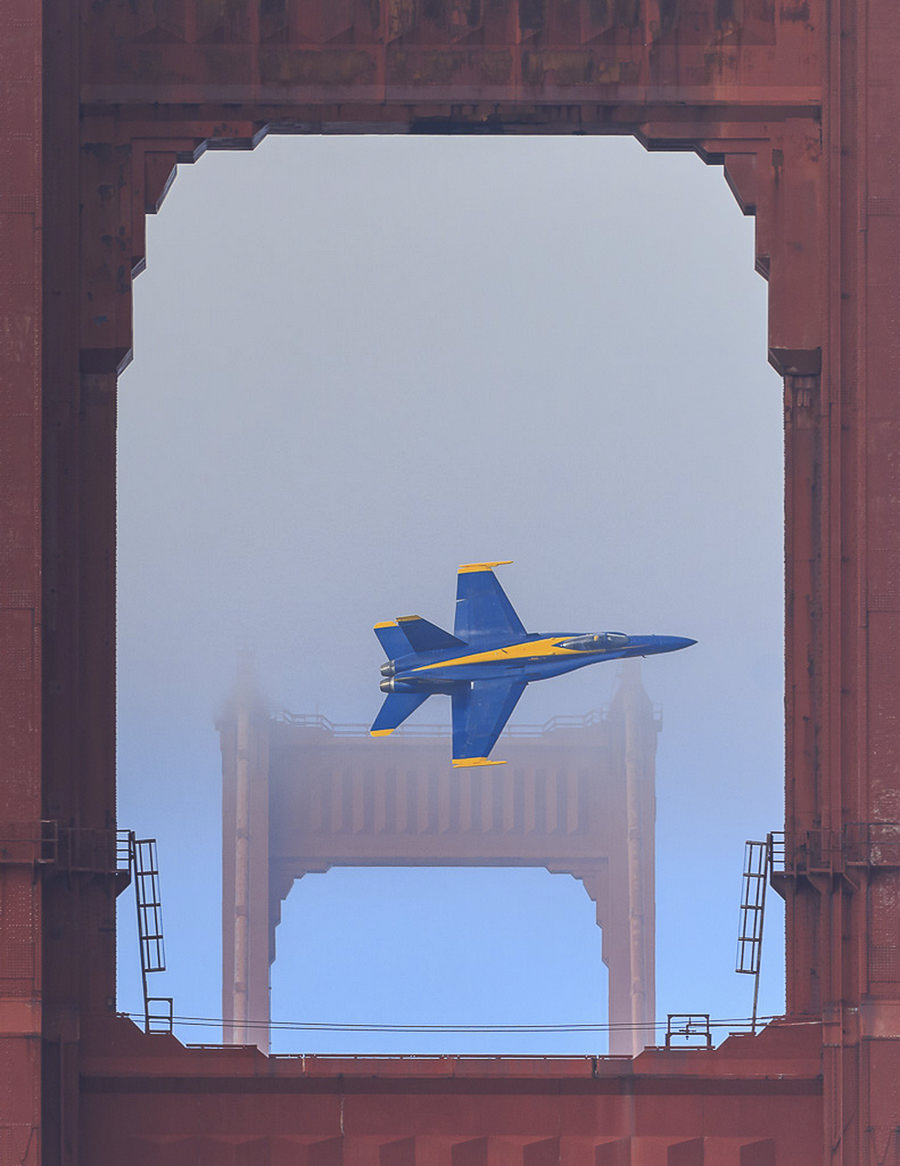 Blue Angel, Golden Gate Bridge by Norman Graf