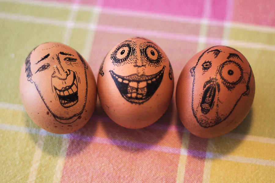 Three Little Easter Eggs by Damira Kalajzic
