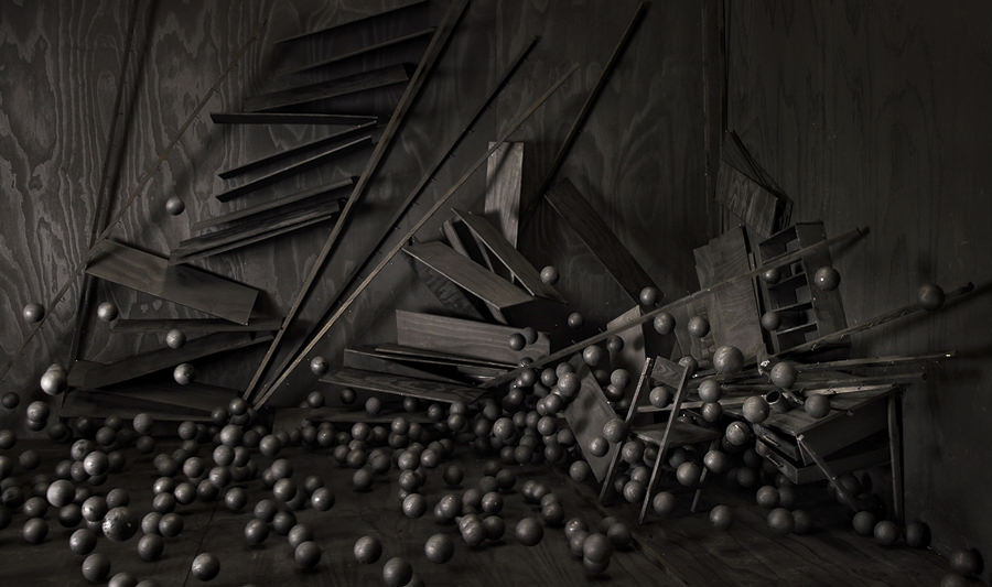 The Collapse of Cohesion (Photographs), Spheres, Framed c-print 2014 by Levi van Veluw