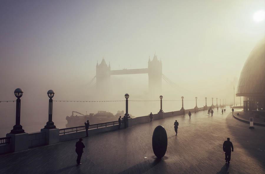 Tower Bridge, Morning Fog by Laura McGregor