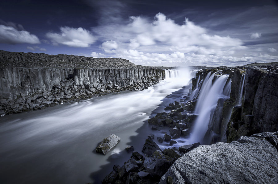 Sellfoss Falls by Frederic Huber