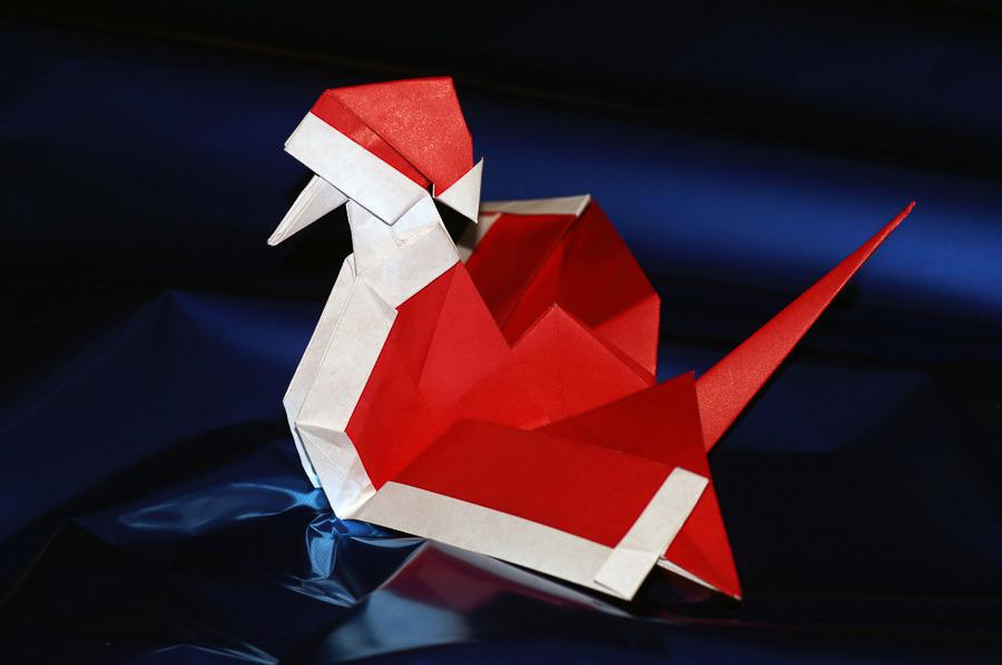 Santa Crane by Marjan Smeijsters