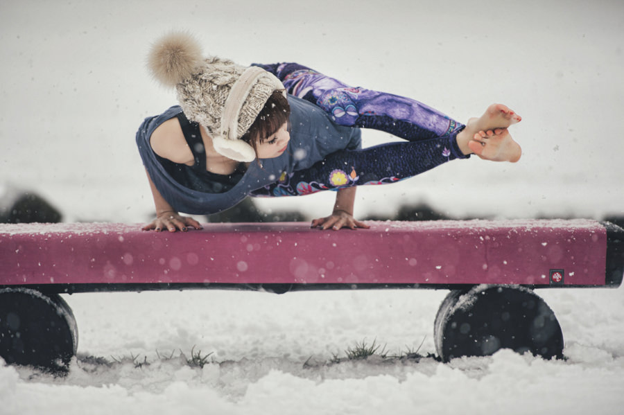 Yoga in the Snow [portrait] by TaoTzu Chang