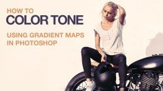 Photoshop Tutorials: How to Color Tone Using Gradient Maps