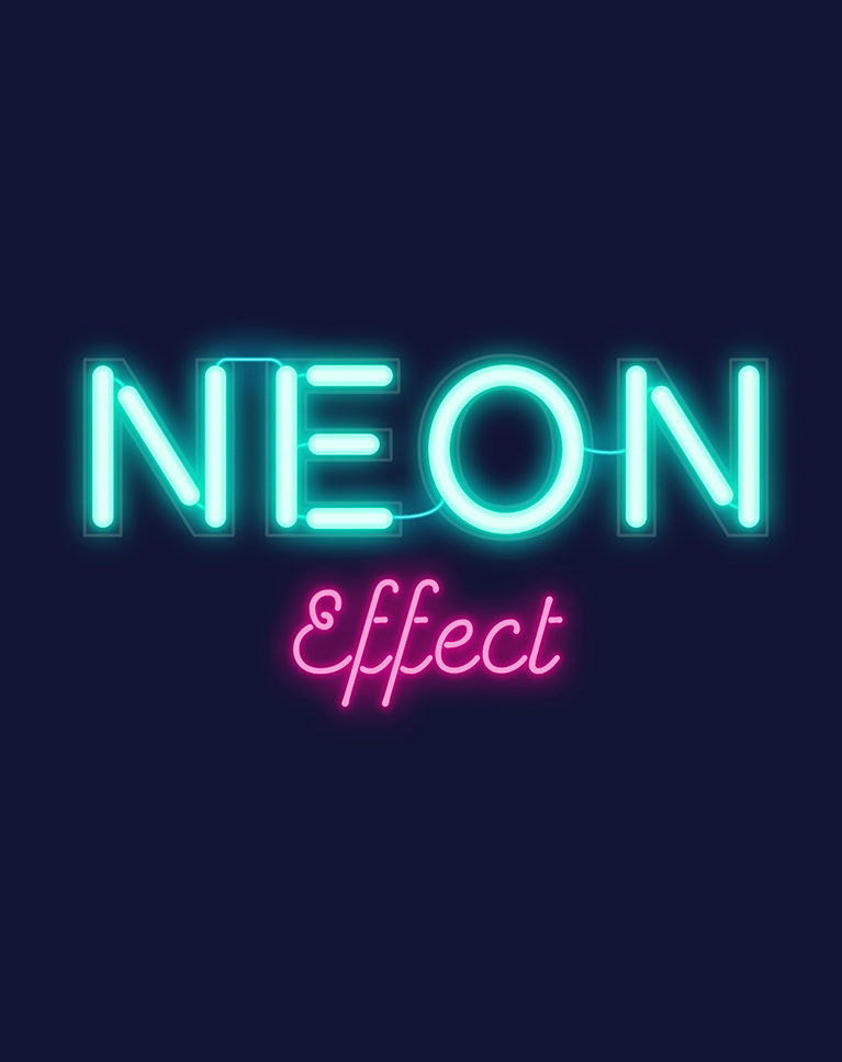 Neon Text Effect Photoshop : effect, photoshop, Create, Effects, Photoshop, PHLEARN