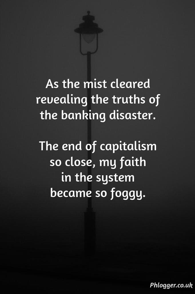 banking disaster visual thought